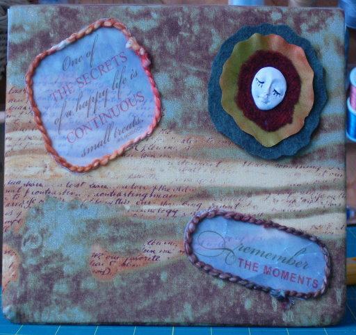 Fabric Postcard Book