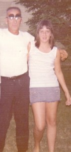 Dad and I 1973 at Aunt Angies