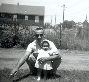 Dad holding me in 1961