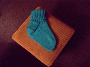 sock-first-one-finished