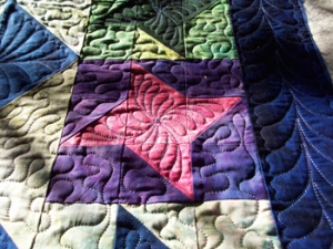 I used three types of feathers in this quilt.