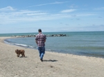 Mike and Brandi taking a walk.  This is one of my favorite areas of the shoreline.